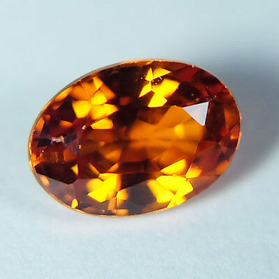 1.35ct.AWESOME VIVID PADPARADSCHA SAPPHIRE OVAL GEMSTONE