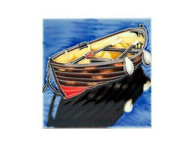 Decorative Ceramic Rowing Boat Wall Tile In Presentation Box