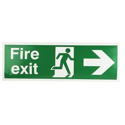 Safety Sign Fire Exit Running Man Arrow Right 150x450mm  [SR71180]