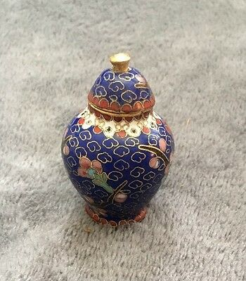 miniature Chinese Cloisonne urn