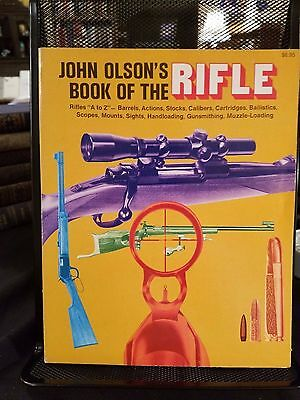 """""""John Olson's Book of the Rifle"""" Illustrated History and How-To 1974 Clean"""
