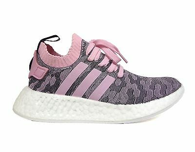 new arrival cf180 e4939 ADIDAS WOMEN'S ORIGINALS NMD R2 PRIMEKNIT Running Shoes Pink/Black BY9521 b