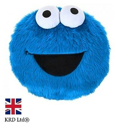 Sesame Street COOKIE MONSTER Characters Kids Plush Cushion Toy Christmas Gift UK