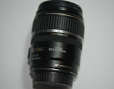 CANON EF-S 17-85mm f/4-5.6 IS USM lens + FREE FILTERS (UV, CPL & ND9)