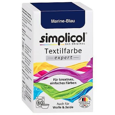 simplicol Fabric Paint Expert Marine Blue 150 g Colour also for Wool & Silk
