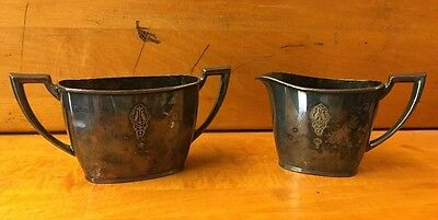 Vintage Community Plate Silver Plated Creamer And Sugar Bowl 12902 / 12903 B