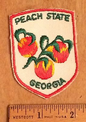 GEORGIA GA The Peach Patch Sew-on Embroidered Patch Badge Souvenir