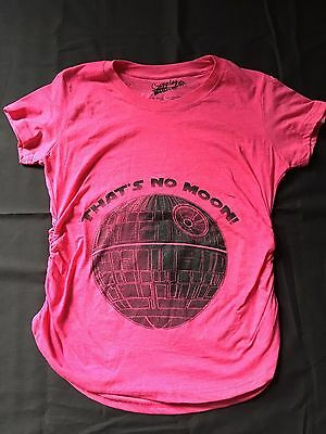Maternity Thats No Moon Cute Maternity Funny Announce Pregnancy Shirt size Small