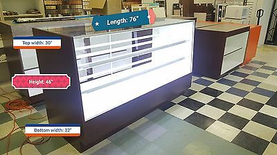 Donut bakery display showcase with Led light installed, 4676COL