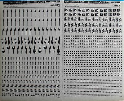 Mecanorma Dry Transfer Lettering Sheet A3, Typography #41, Traffic Symbols