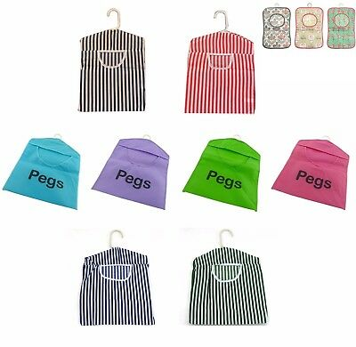 Peg Bag Clothes Pegbag Hanging Washing Storage Basket Laundry Line Tidy Colours