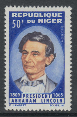 XG-AH036 NIGER IND - Lincoln, 1965 Anniversary, Slavery Abolition MNH Set