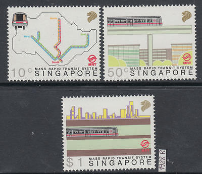 XG-AI328 SINGAPORE IND - Railways, 1988 Mass Rapid Transit System, Mrt MNH Set