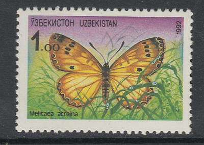XG-AI292 UZBEKISTAN - Butterflies, 1992 Fauna, Nature, 1 Value MNH Set