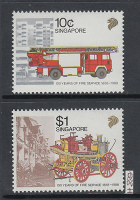 XG-AI329 SINGAPORE IND - Fire Fighters, 1988 Service Centenary MNH Set
