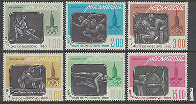 XG-AI524 MOZAMBIQUE IND - Olympic Games, 1979 Russia Moscow '80 6 Values MNH Set