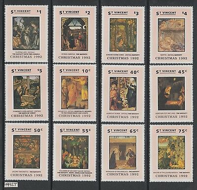 XG-AI058 SIERRA LEONE IND - Paintings, 1992 Christmas Nativity 12 Values MNH Set