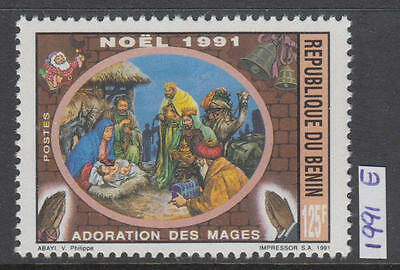 XG-AI965 BENIN - Paintings, 1991 Christmas, 1 Value MNH Set