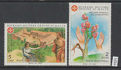 XG-AI141 SMOM/VATICAN CITY - Intl. Year Of The Disabled, 1981 Flowers MNH Set