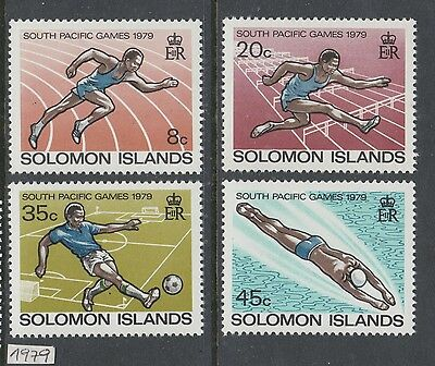 XG-AI565 SOLOMON ISLANDS IND - Sports, 1979 South Pacific Games Football MNH Set