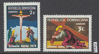 XG-AI503 DOMINICAN REP. - Easter, 1979 Holy Week, 2 Values MNH Set