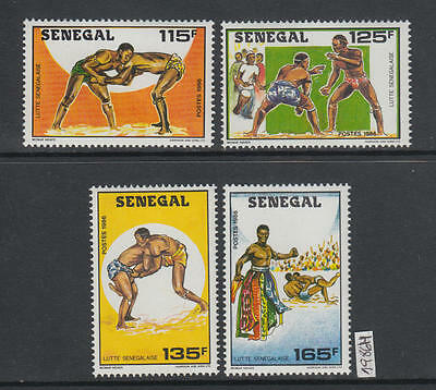 XG-AI074 SENEGAL IND - Sports, 1986 Traditional Fighting MNH Set
