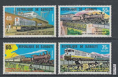 XG-AI593 DJIBOUTI - Trains, 1979 Railways, Landscapes, Bridges MNH Set
