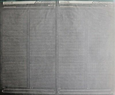 Mecanorma Dry Transfer Lettering Sheet A3, Typography #44, Univers 55, 2/2.2mm