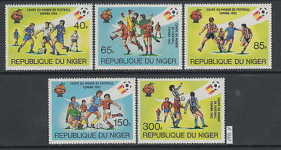 XG-AJ245 NIGER IND - Football, 1981 Spain World Cup '82, 5 Values MNH Set
