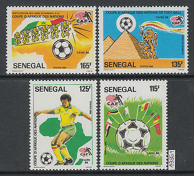 XG-AJ459 SENEGAL IND - Football, 1986 Africa Nations Cup MNH Set