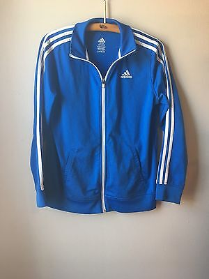 Blue And White Adidas Zip Up Track Jacket