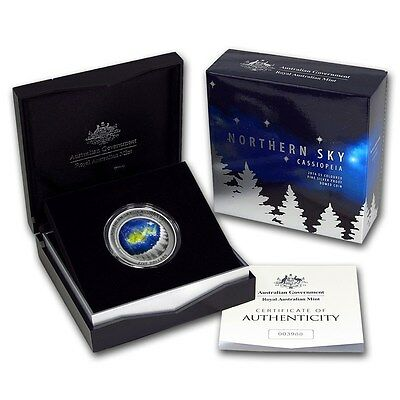 2016 Australia Northern Sky - Cassiopeia Silver Proof Coin