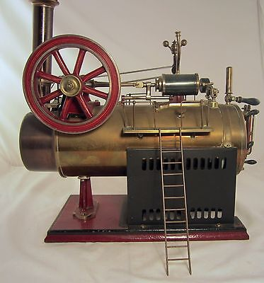 Steam Engine 1897 Johann Falk Overtype Stationary Locomobile Very Rare