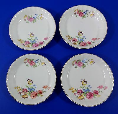 """Ws George, Bolero, Pink Rose,  Four 7 3/4"""" By 1"""" Deep Bowls, Vg Condition"""