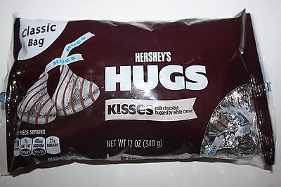 Hershey's HUGS Kisses Milk Chocolate hugged by white creme 340g Bag