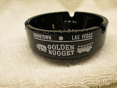 "Vintage Las Vegas Souvenir Ashtray from "" The Golden Nugget Casino"""