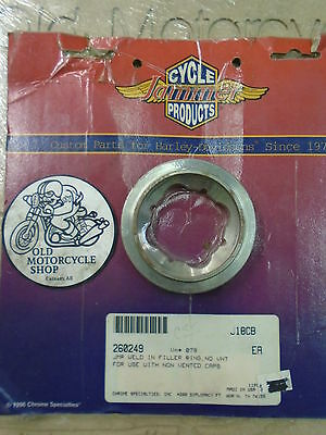 NOS Jammer Harley-Davidson Weld in Filler Cap for non-vented Caps OEM#260249