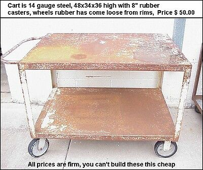 Heavy Duty Welded Steel Shop Carts, $50 Bucks Per Cart, Pick Up Only