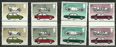 "GREAT BRITAIN 1982 Very Fine MNH OG Pair Stamps Set Scott #1002-1005 "" Cars """