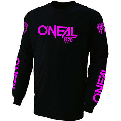 Oneal NEW Mx 2018 Demolition Black/Pink Cotton Womens Motocross Dirt Bike Jersey
