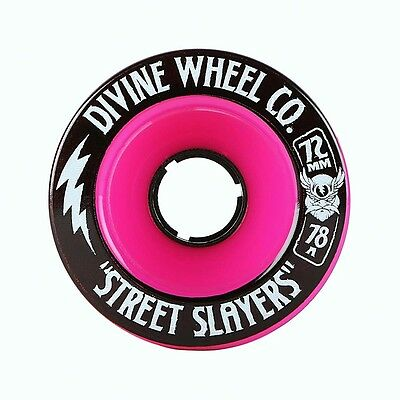 DIVINE WHEELS Longboard Rollen *Street Slayers*, 72 mm, 78A Pink