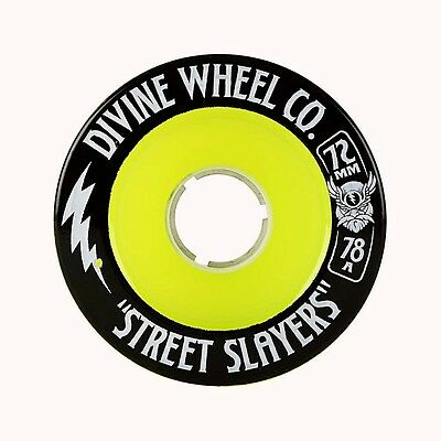 DIVINE WHEELS Longboard Rollen *Street Slayers*, 72 mm, 78A Green