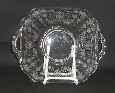 "Cambridge DIANE CRYSTAL *6"" 2 HANDLED PLATE*3400/1181"