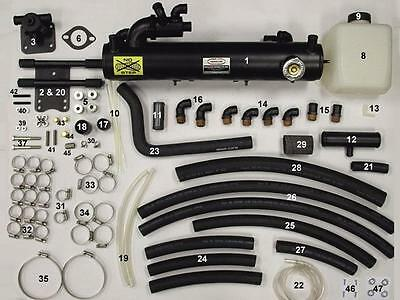New SBC V8 Fresh Water Cooling Kit, FULL Kit - Dry Joint, Mercruiser years 02-UP