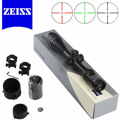 Zeiss Conquest 3-9X40AO Rifle Scope Illuminated Red Green Reticle Sight Black