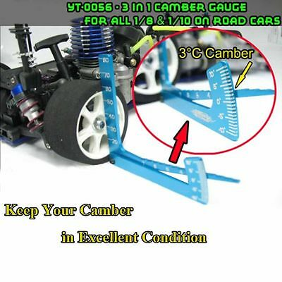 RC 1/81/10 Car Set Up Tool chassis Suspension Wheel 3°C Camber Ride Height Gauge