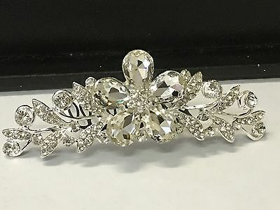 Gorgeous bridal tiara comb in silver colour with rhinestones