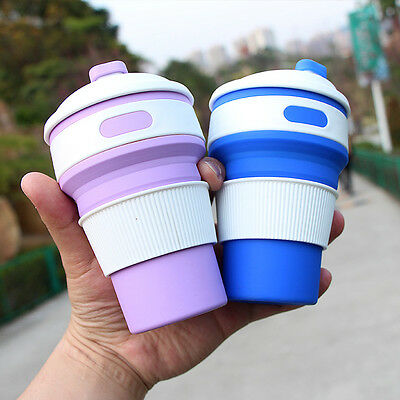 350ML Silicone Retractable Folding Coffee Cup Telescopic Collapsible Travel