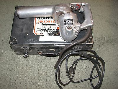 """Vintage Black & Decker 3/4"""" Electric Hammer w/ Case and Extras"""