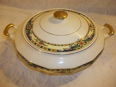 Vintage Knowles Ivory Covered Vegetable Dish Lidded Bowl Casserole Dish
